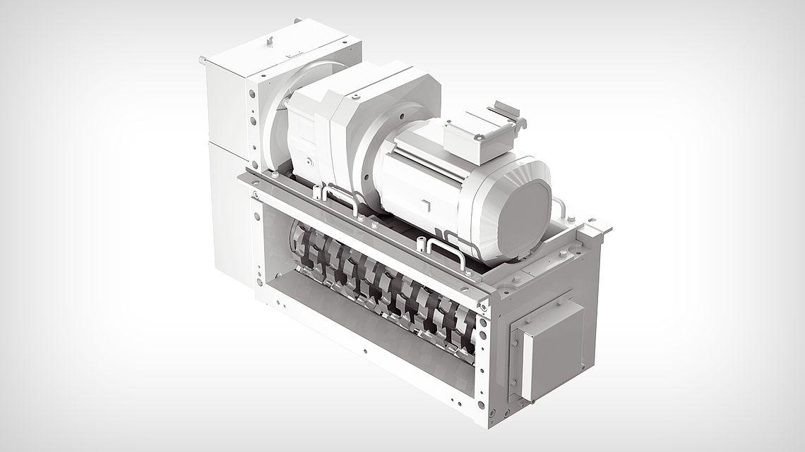 Дробильная установка ZH-J - горизонтальная с одним валом с двусторонними лезвиями