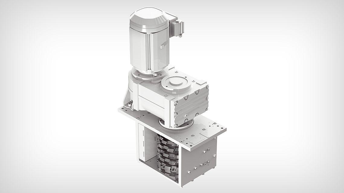 Дробильная установка ZHV-J - вертикальная с одним валом с двусторонними лезвиями
