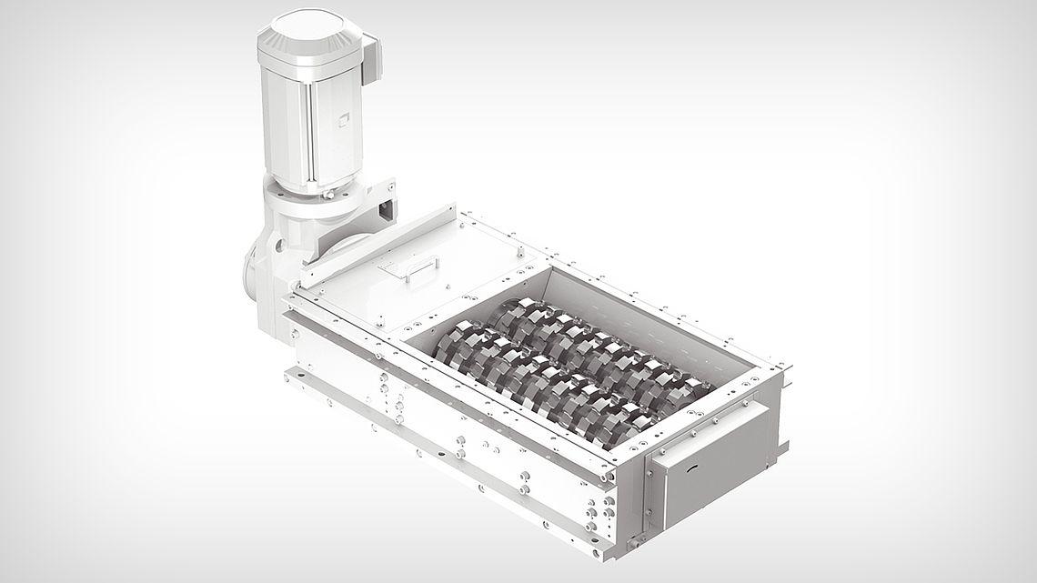 Дробильная установка ZVD-J - с двумя валами с двусторонними лезвиями