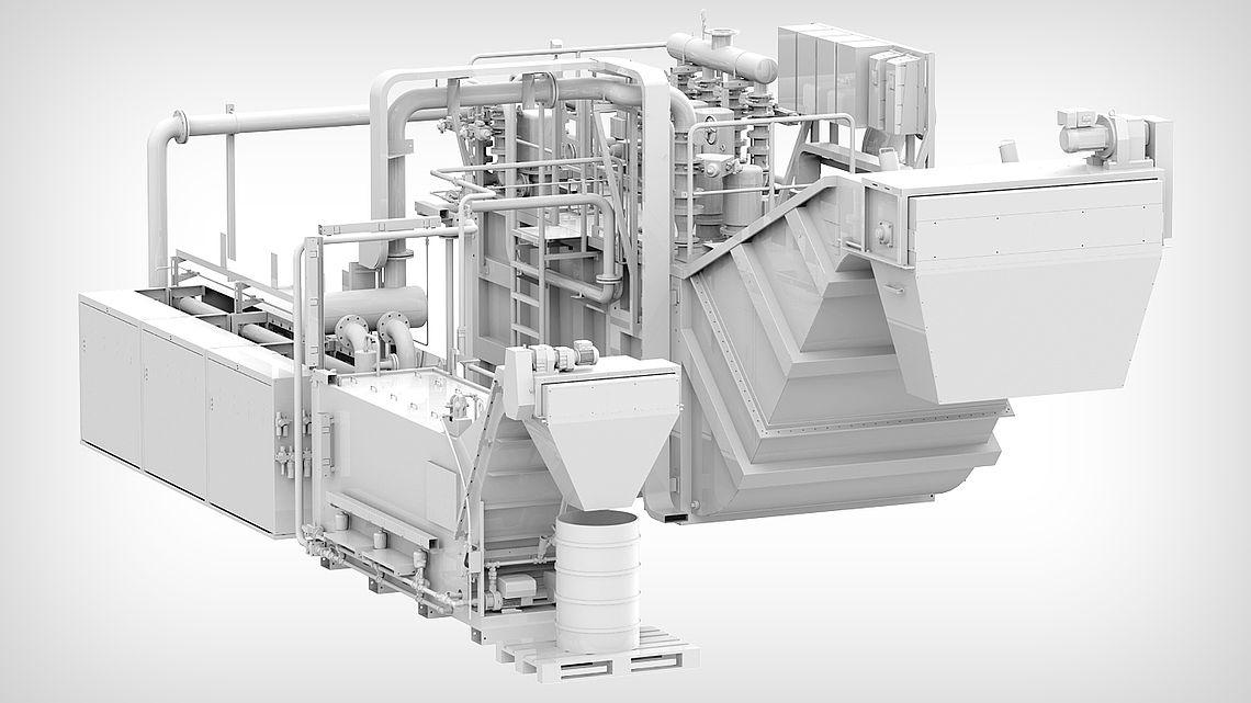 Центральная установка сверхтонкой фильтрации со скребком для удаления шлама и автоматическим концентратором в качестве автоматического фильтра осадка.