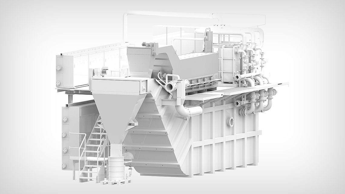 Центральная установка сверхтонкой фильтрации со скребком для удаления шлама в двухэтажном исполнении.